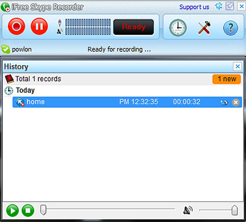 ifreeskyperecorder iFree Skype Recorder   excellent free tool for recording Skype calls with a click [Freeware]