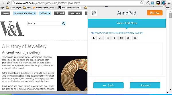 AnnoPad for Chrome – annotate webpages like a pro [Freeware]