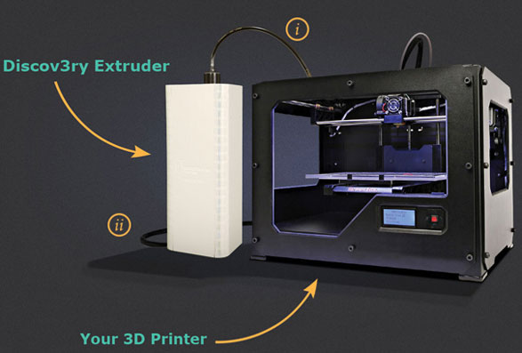 Discov3ry: game changing add-on for 3D printing lets you print with anything from Nutella to Latex