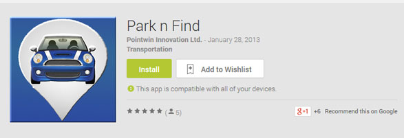 Park n Find – the free app which parking attendants will hate [Freeware]