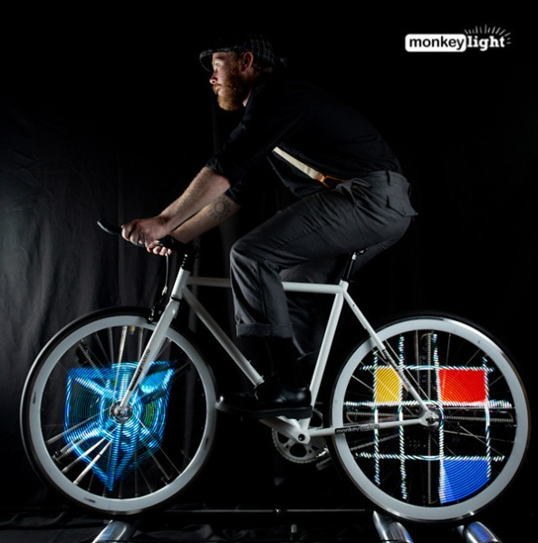 Monkey Light M232 Bike Lights – bring fun and safety to night rides, one artwork at a time