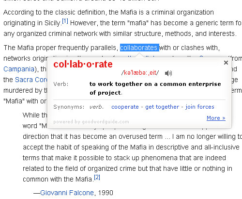 instant dictionary define Instant Dictionary   highlight and define tricky words instantly in Chrome [Freeware]