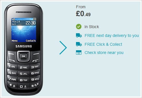 samsunge1200 Samsung E1200 Mobile Phone   .49 pence new, 7 hours talk time, 3 weeks battery life