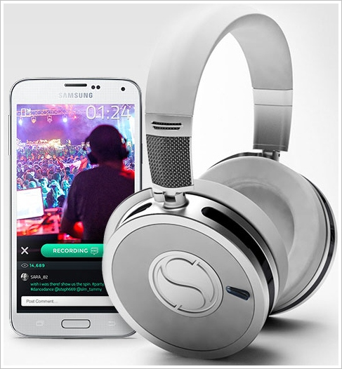 Soundsight Headphones – Bluetooth wireless headphones with an in-built camera, just because they can…?