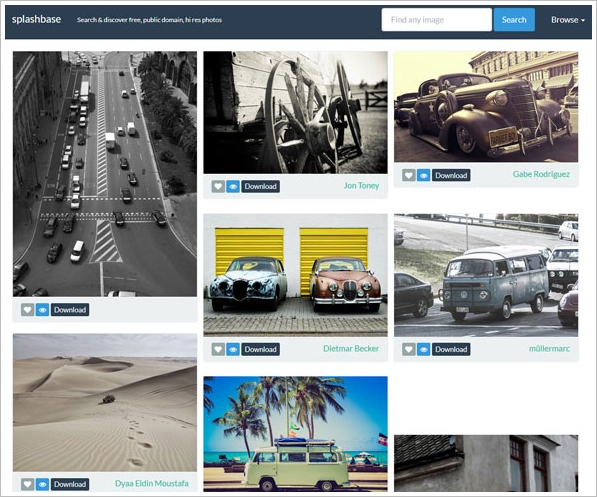 Splashbase – free public domain high resolution photos to download for free [Freeware]