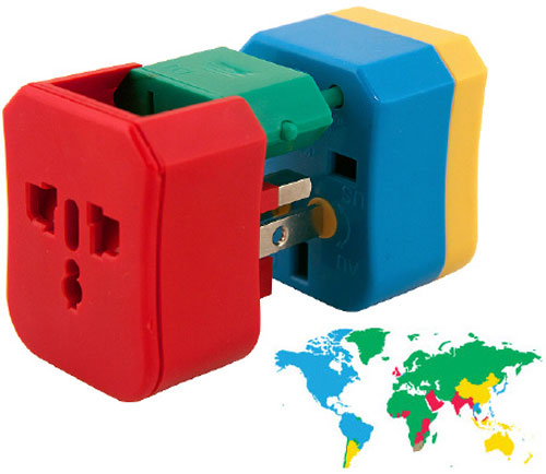 4-in-1 Adapter – a multi-colored plug for every occasion