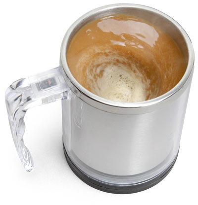 Self Stirring Mug – because we all need a little automation to get the day started