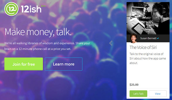 12ish – earn money for telling people what you know