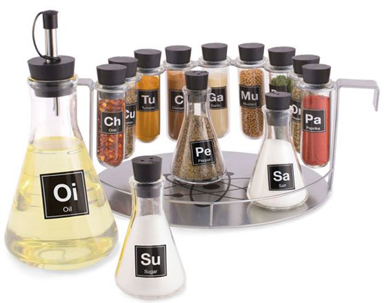 Chemistry Set Spice Rack – time to get all nerdy in the kitchen