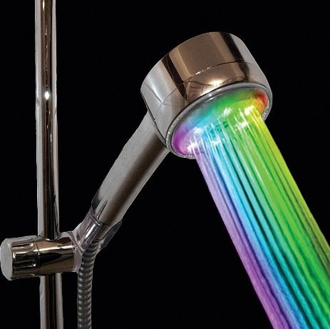 VDOMUS Color Changing Dreamy Round Showerhead Nozzle