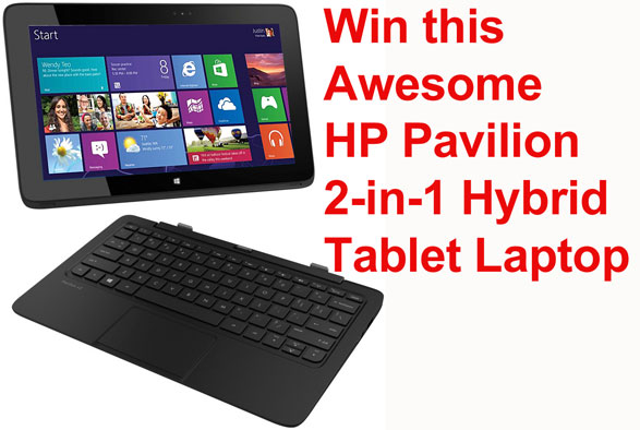 Red Ferret Giveaway 5 – win an awesome HP Pavilion 11 X2 2-in-1 Hybrid Tablet Laptop Computer [Giveaway]