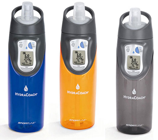 HydraCoach – intelligent water bottle keeps you hydrated and healthy