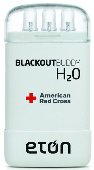 Blackout Buddy H2O – just add water to generate emergency light