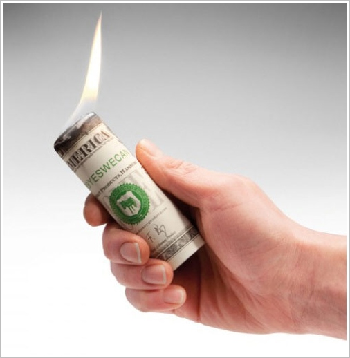 Dollar Firelighters – impress your friends and family with some serious 1% attitude