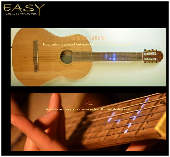 Easy Guitar – LED guitar and online tutor site makes learning the guitar a much easier task