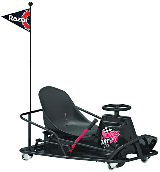 razor crazy cart xl the ultimate electric drifting cart. Black Bedroom Furniture Sets. Home Design Ideas