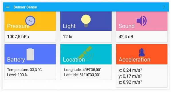Sensor Sense – easily access what your phone sensors see in real time [Freeware]