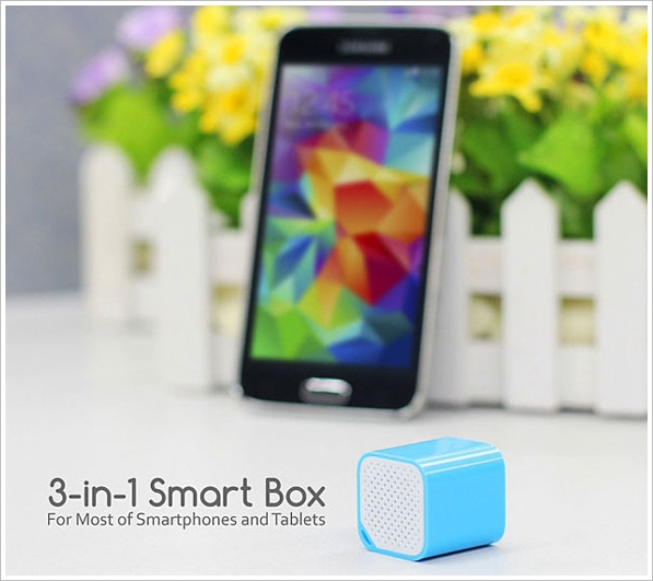 3 in 1 Smart Box – speaker, shutter and alarm all in one gadget for your phone