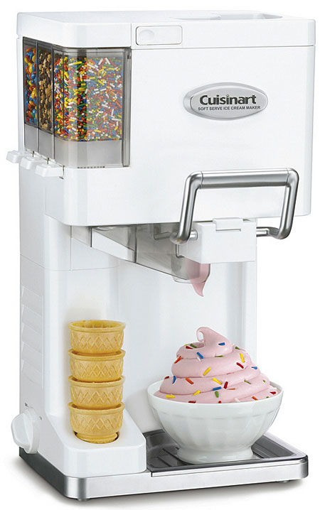 Cuisinart ICE-45 Soft Serve Ice Cream Maker – soft serve on tap, at home, in the tummy…