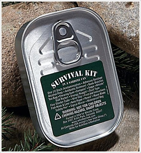 Whistle Creek Sardine Can Survival Kit – the lifesaver in a tin