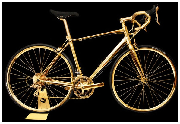 24K Gold Men's Racing Bike – for the oligarch who has everything