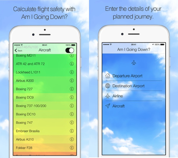 Am I Going Down – the app meant to help you get over your flying fears [FREEWARE]