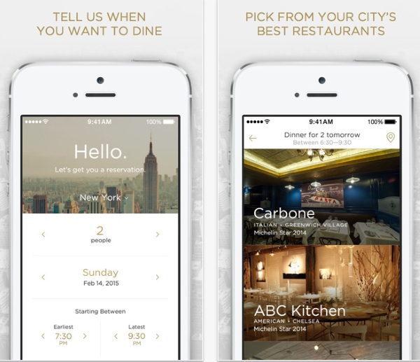 Reserve – an app to plan your meal out [FREEWARE]
