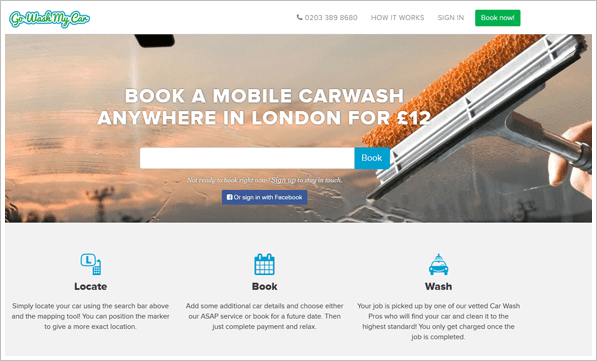Go Wash My Car – mobile car wash comes to you via your smartphone