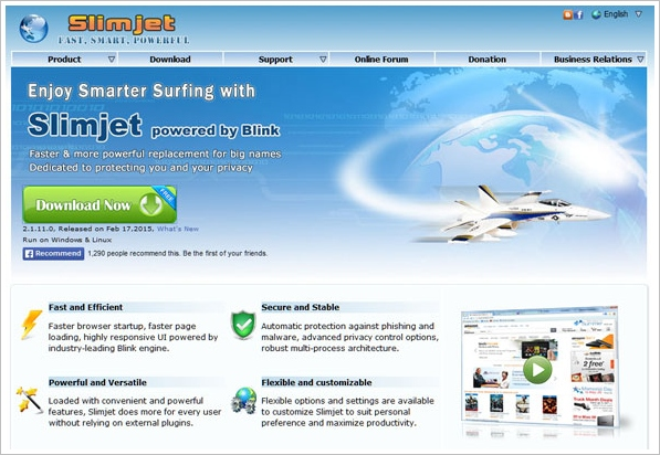 SlimJet Browser – fast, compatible and versatile web surfer [Freeware]