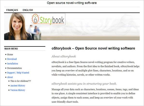 oStorybook – free open source novel writing software [Freeware]