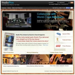 StudioPros – get your song made using world class musicians and studio