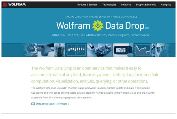 Wolfram Data Drop – the coolest new geek service you've never heard of