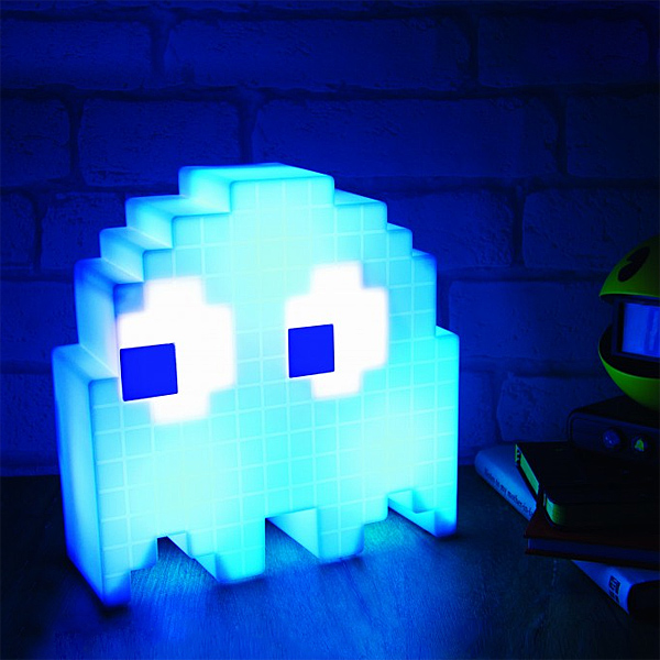 Pac-Man USB Ghost Lamp blue