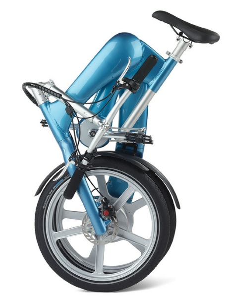 The Self Charging Electric Bike folded