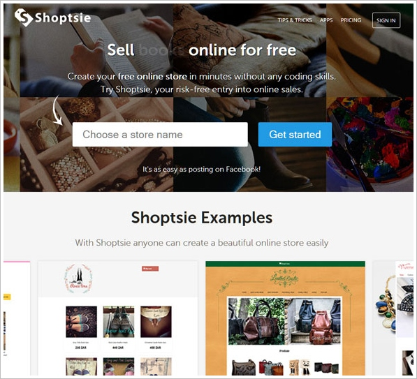 shoptsie Shoptsie   super easy way to sell stuff in your own online store