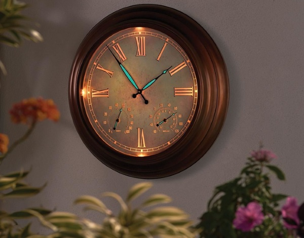 "24"" Outdoor Lighted Atomic Clock – a clock for all time"