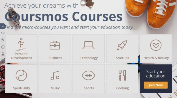 Coursmos – micro-learning for the distracted