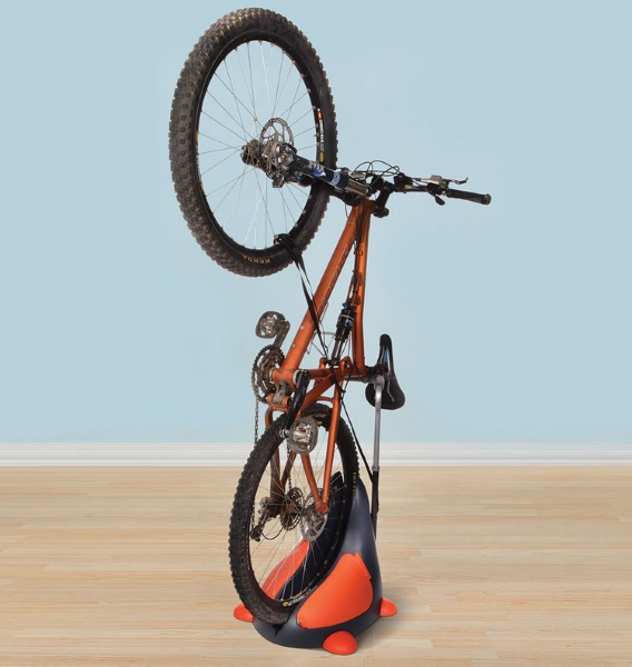 Space Saving Upright Bike Stand – keep your bike and floor space in your tiny apartment