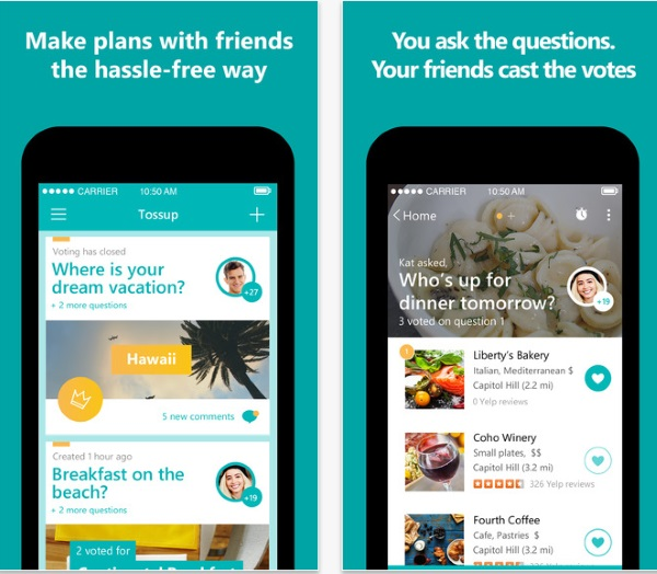 Tossup – the app that helps you make plans with friends [FREEWARE]