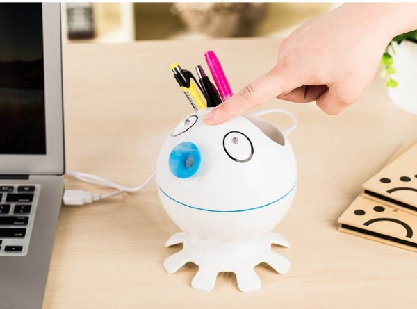 Cartoon Octopus Pen Holder – accessible pens, hidden humidifier