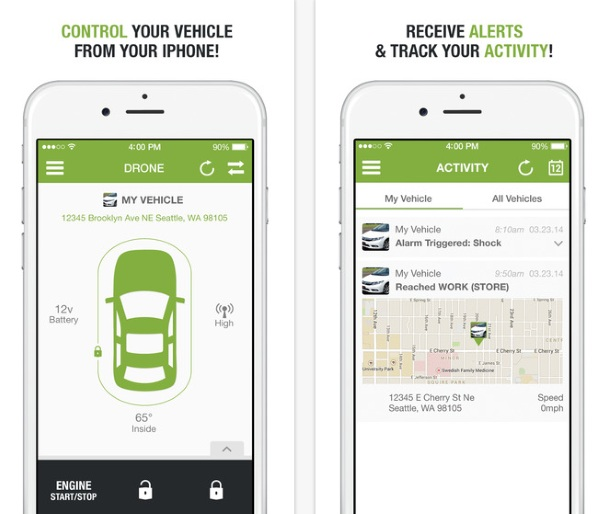DroneMobile – turn on your car from afar