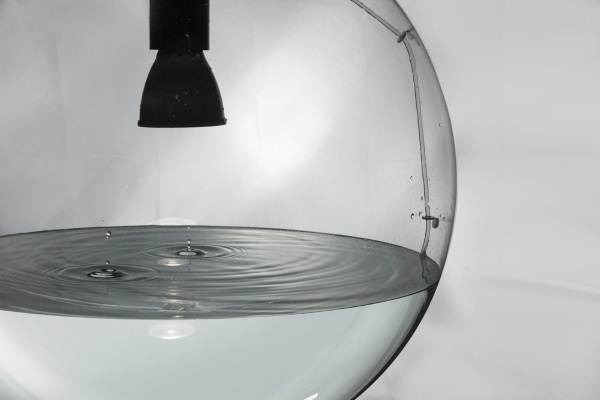 Rain Lamp – turn your floor into a reflective pool, sort of