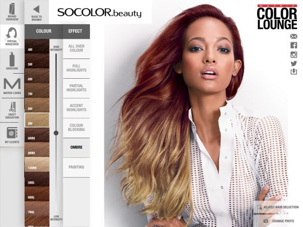 Matrix Color Lounge – try on a new hair color before you pick up a bottle of dye