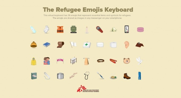 Refugee Emojis Keyboard – download a keyboard and make a donation