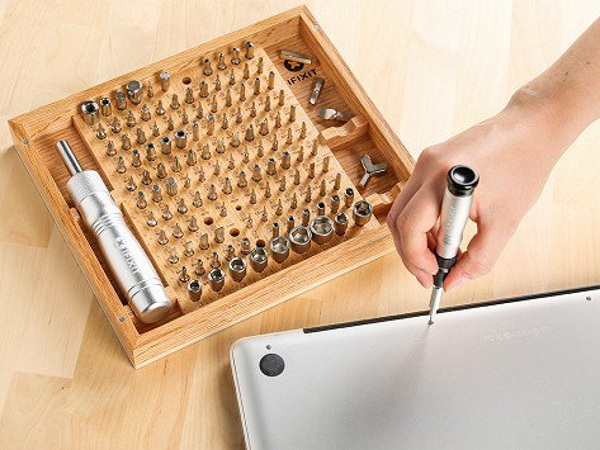 iFixit Universal Bit Kit in use