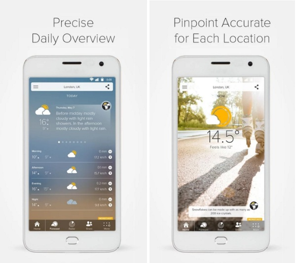 MORECAST – share your weather moments and get forecast all with this app