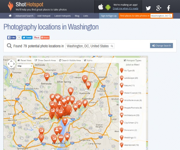 ShotHotspot – the website to help you find your next great photo location