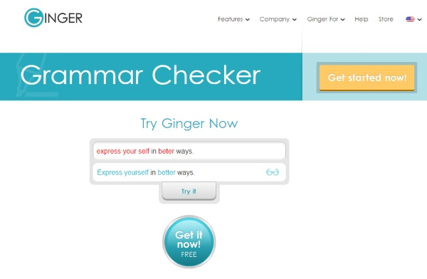 Ginger Grammar Checker – the service to make you a better writer