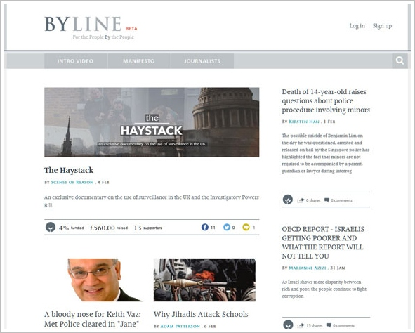 Byline – superb crowdfunded journalism site delivers the kind of independent news we used to enjoy