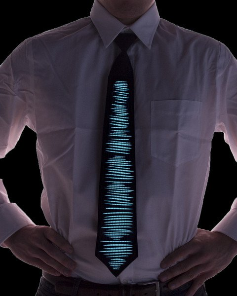 LED Animated Neck Tie – turn the party up with this sound reactive neck wear